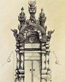Poort Lanna stock illustratie