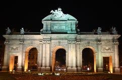 Poort Madrid - Alcala Royalty-vrije Stock Foto's