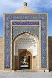 Poort in Naqshbandi madrasah Boukhara stock afbeeldingen