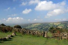 Poort op Bonehill neer, Dartmoor, Royalty-vrije Stock Fotografie