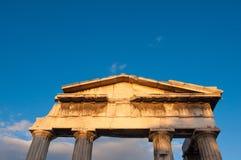Poort - Roman Agora van Athene Stock Foto