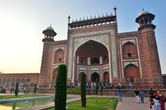 Poort in Taj Mahal, India Stock Foto's