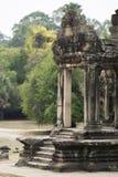 Poort van Angkor Wat kambodja Stock Foto's