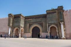 Poort van Bab el Mansour in Meknes, Marokko royalty-vrije stock foto