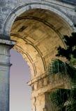Poort van Brits paleis in Korfu, Griekenland Stock Foto's