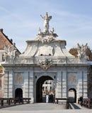 Poort van citadel Alba Iulia royalty-vrije stock afbeelding