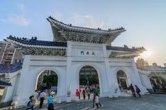Poort van de herdenkingszaal van Chiang Kai Sek Stock Foto's