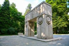 Poort van de kus, Targu Jiu Royalty-vrije Stock Foto
