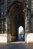 Poort van Dom Tower in de oude stad van Utrecht Royalty-vrije Stock Foto's