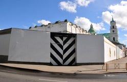 Poort van gevangenis aan Grodno wit-rusland Stock Afbeelding