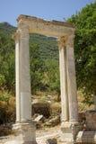Poort van Hadrian's in Ephesus Stock Foto