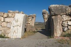 Poort van Hattusa, het Hittite Kapitaal, Turkije royalty-vrije stock foto