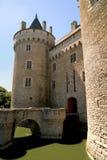 Poort van het kasteel van Suscinio in Bretagne, Frankrijk stock foto