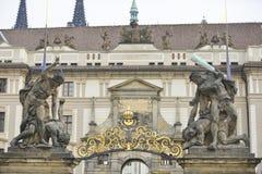 Poort van het Kasteel van Praag Royalty-vrije Stock Fotografie