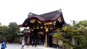 Poort van Nijo-kasteel, Japan; äºŒæ¢  城 royalty-vrije stock afbeelding