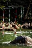 Poort van whitewaterslalom Stock Foto