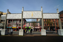 Poort in Vancouvers-Chinatown, Canada stock afbeelding