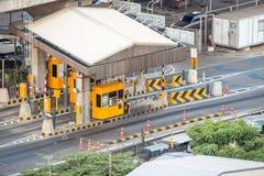 Poort voor de betaling van de snelwegprijs in Bangkok door EXAT Stock Afbeelding