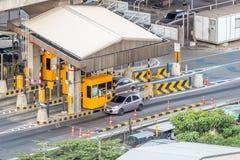 Poort voor de betaling van de snelwegprijs in Bangkok door EXAT Royalty-vrije Stock Foto