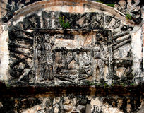 Poortdetail, Porta DE Santiago, een Famosa-Fort, Malacca, Maleisië stock foto