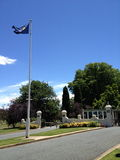 Poorten aan Overheidshuis, de HANDELING van Canberra, Australië stock fotografie
