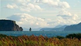 Poorten in de Vreedzame oceaan. Kamchatka. Stock Foto