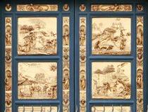 Poorten van Paradijs bij Baptistery, Florence (Ita stock afbeeldingen