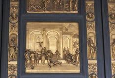 Poorten van Paradijs, de Duomo-Doopkapel in Florence Stock Fotografie