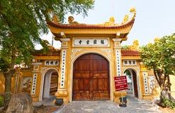 Poorten van Tran Quoc Pagoda (1639). Hanoi, Vietnam Stock Foto