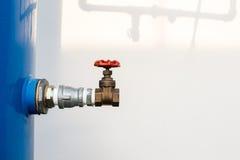 Poortklep in huishouden, industrieel, landbouw en sanita wordt gebruikt die Royalty-vrije Stock Foto