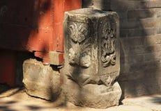 Poortpijler in Peking hutongs royalty-vrije stock fotografie