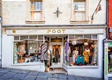 Poot商店前面在Frome 免版税库存图片