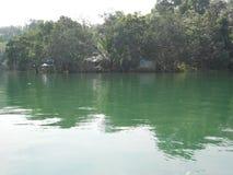 Poovar nära Thiruvananthapuram, Kerala Arkivfoton
