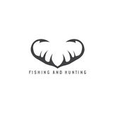 Połowu i polowania ilustracja z Zdjęcia Stock