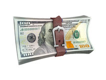Popędzająca sterta dolarów banknoty Obraz Stock