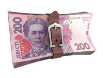 Popędzająca sterta ukraińscy pieniędzy banknoty Obraz Royalty Free