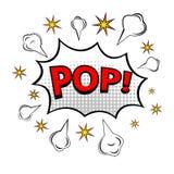POP!漫画书爆炸 库存照片