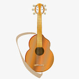 Pop acoustic guitar . On a white background . Vector illustration . Pop acoustic guitar . On a white background . Vector illustration Stock Images
