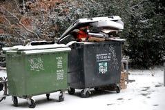 Pop afval het geen verwijderde gepaste o-weer van sneeuwdalingen royalty-vrije stock foto's