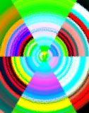Pop-art abstract geometrisch ontwerp Stock Fotografie