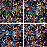 Pop art abstract seamless pattern Stock Photo
