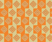Pop Art Alternate Greeks Pattern Orange Yellow Stock Photos