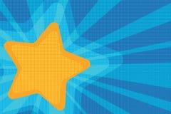 Pop art amarelo da estrela do fundo Imagem de Stock Royalty Free