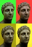 POP ART - Andy Wahrol style - greek-roman bust in a pop art key royalty free stock images