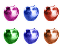 Pop art apples Stock Images