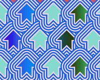 Pop Art Arrows Up Blue Green Pale Blue Royalty Free Stock Images