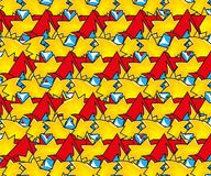 Pop art background color pattern. Paper backgrond, yellow and red pattern, texture advertise, pattern pop, art, broadcast wallpaper Stock Photography