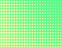 Pop art background, the green color turns into yellow. Circles, balls of different shapes. Vector stock illustration