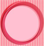 Pop art background in pink with circles. Stock Photography