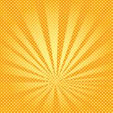 Pop art background rays of the sun are orange and yellow. Royalty Free Illustration